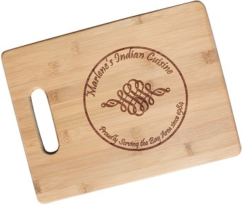 Engrave Your Custom Logo - Bamboo Cutting Board with Handle