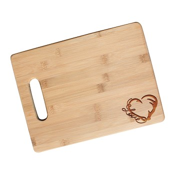 Hunter's Love Engraved Cutting Board with Handle