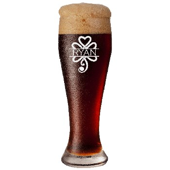 Personalized Celtic Shamrock Pilsner Glass
