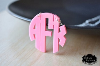 Block Monogram Necklace - Small