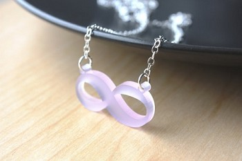 Acrylic Infinity Necklace