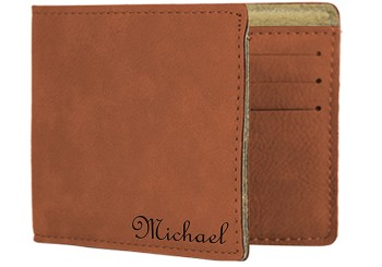 Personalized Vegan Leather Bifold Wallet