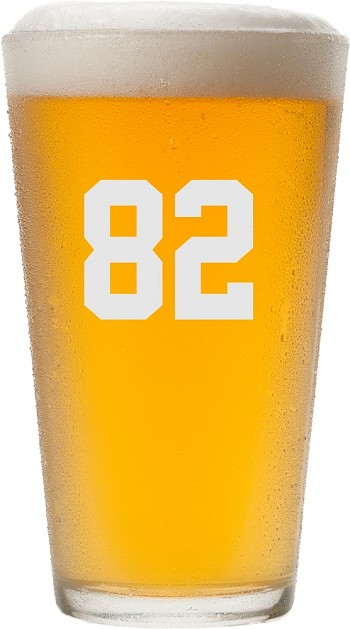 Personalized Sports Pint Glass with Any Name or Number