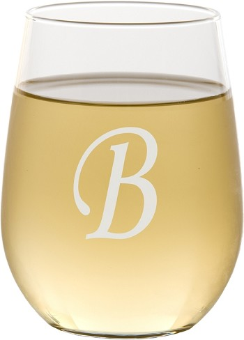 Personalized Script Stemless Wine Glass