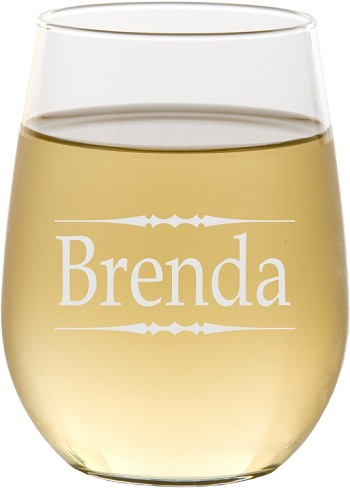 Personalized Traditional Stemless Wine Glass