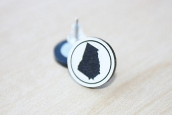 Custom State Silhouette Earring Studs